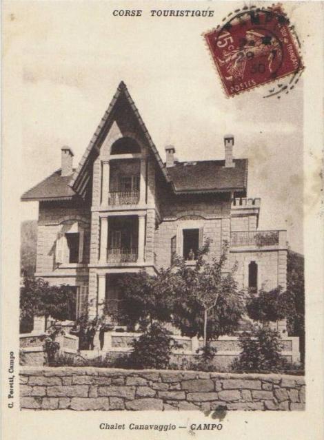 Carte postale chalet Canavaggio avec timbre